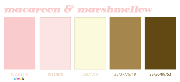 Tonal Tuesday: macaroon & marshmellow